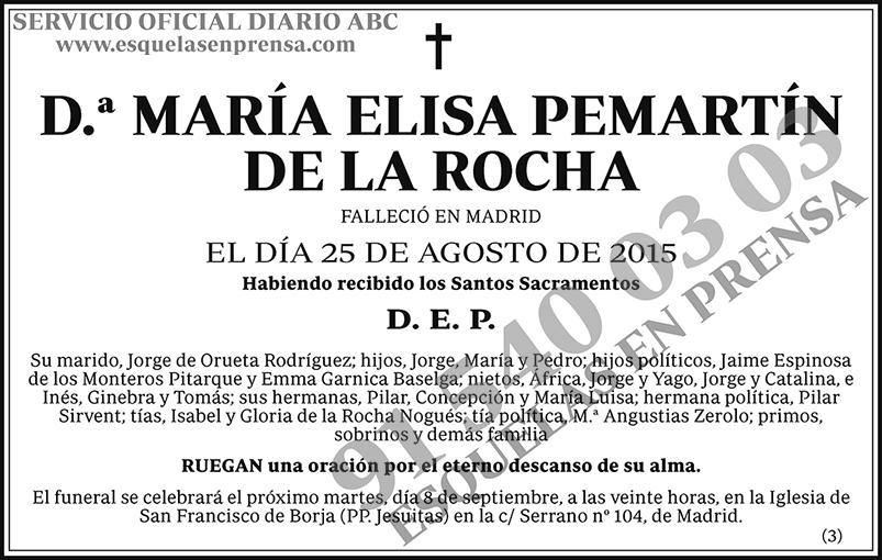 María Elisa Pemartín de la Rocha
